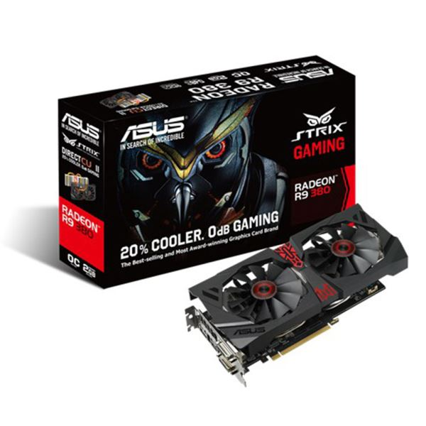 Asus AMD Radeon R9 380 STRIX GAMING 2GB 256Bit GDDR5 (DX12) PCI-E 3.0 Ekran Kartı