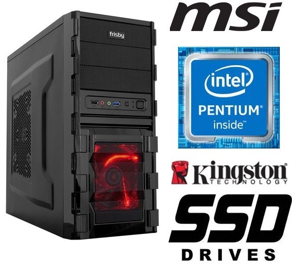 Intel Pentium G4560 MSI 1151 8GB DDR4 240GB SSD HDD GTX1030 Home Game Kasa