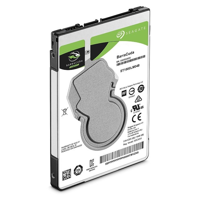 SEAGATE BARRACUDA 1TB 2.5' 5400RPM SATA 128 MB Laptop Harddisk