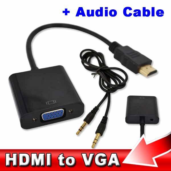 HDMI to VGA ve SES Aktif Dijital-Analog Dönüştürücüsü - Sesli Hdmi Vga Adaptör